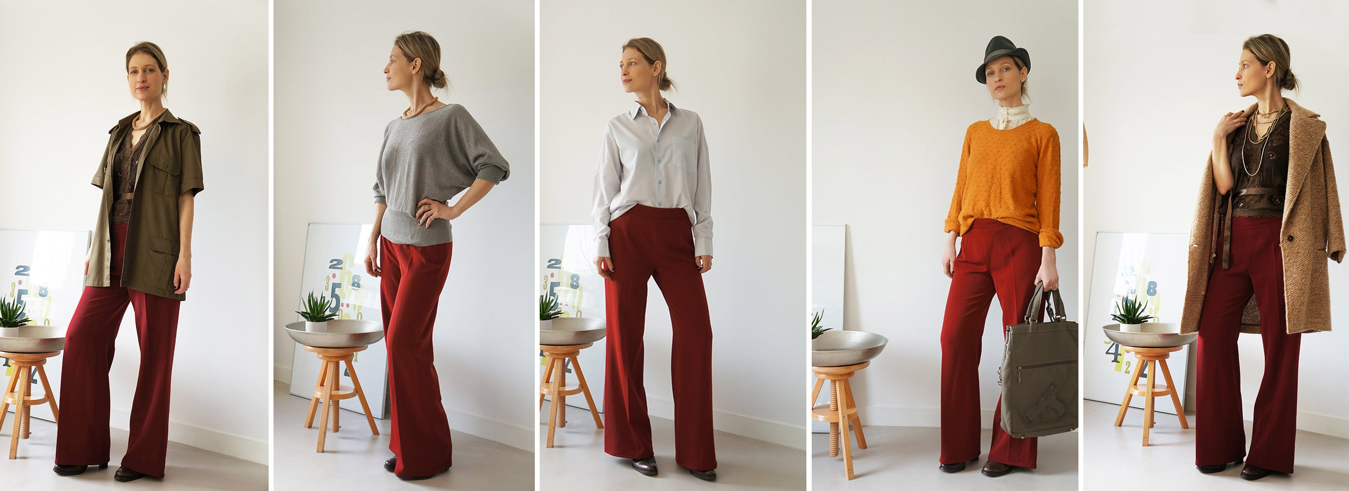 working with a personal stylist: 5 ways to wear the same trousers