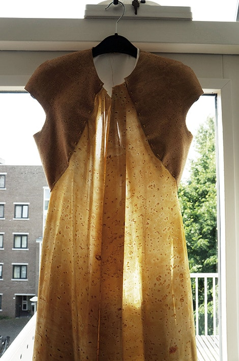 Silk and cork gown by byBrown