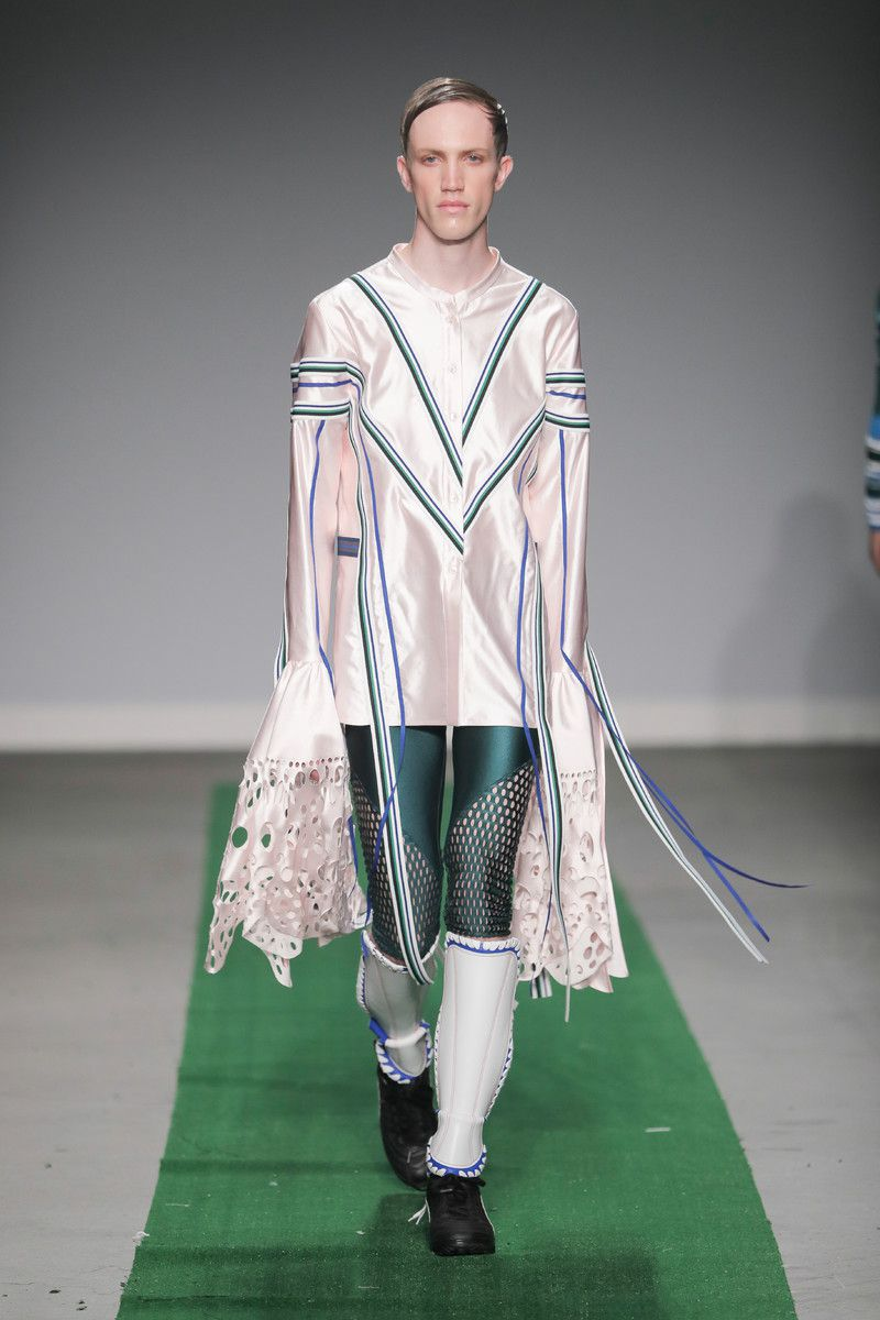 M.E.N. showing at the Mercedes-Benz Amsterdam Fashion Week - long sleeves
