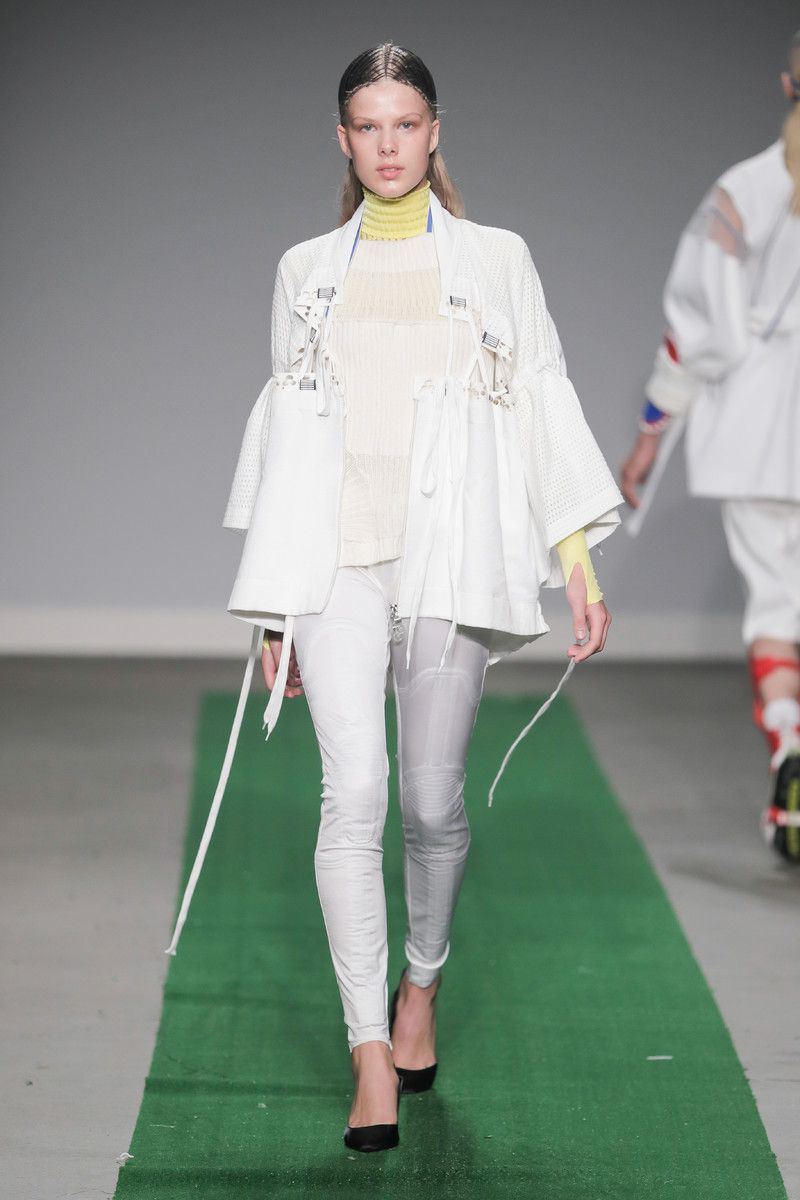 M.E.N. showing at the Mercedes-Benz Amsterdam Fashion Week - white jacket