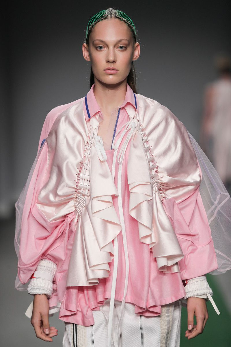M.E.N. showing at the Mercedes-Benz Amsterdam Fashion Week - pink