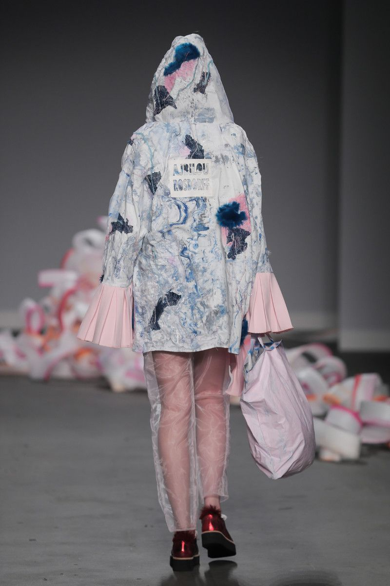 Ajbilou | Rosdorff showing at the Mercedes-Benz Amsterdam Fashion Week - jacket with a logo