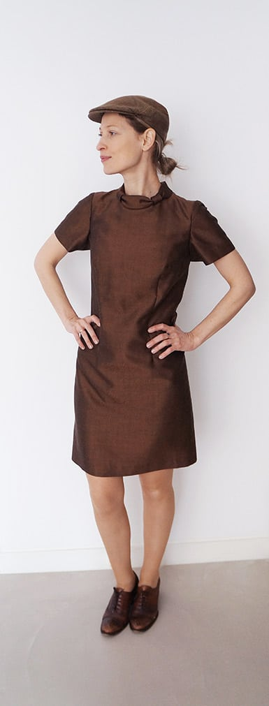 Wearing the vintage brown dress