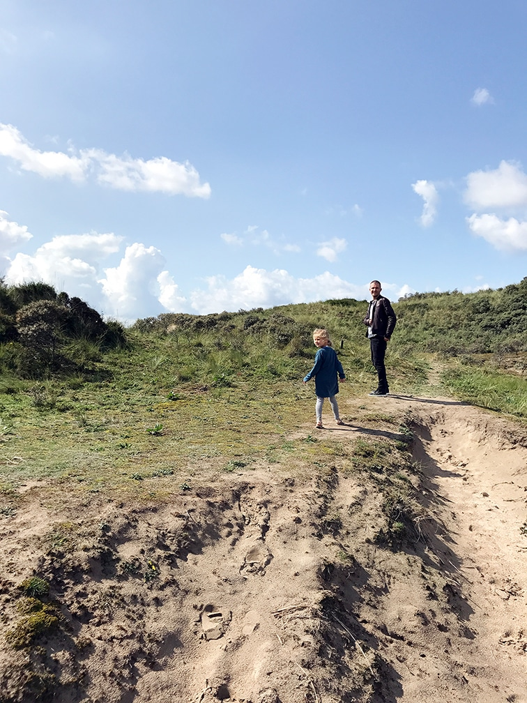Walking in dunes of the North Sea