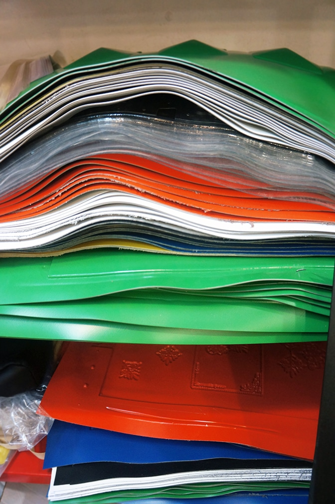 The recycled PVC sheets