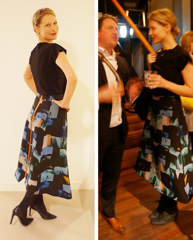 Wearing the beautiful Alexandra Frida skirt to an event
